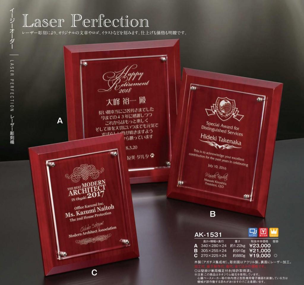 Laser Perfection【レーザー彫刻楯】AK-1531