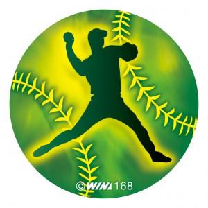 アクリルダイレクトプリントプレート 野球:ピッチャー