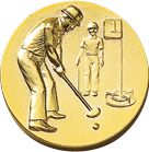 60パイ樹脂レリーフ グラウンドゴルフ
