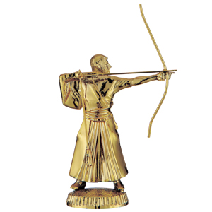 トロフィー人形 和弓