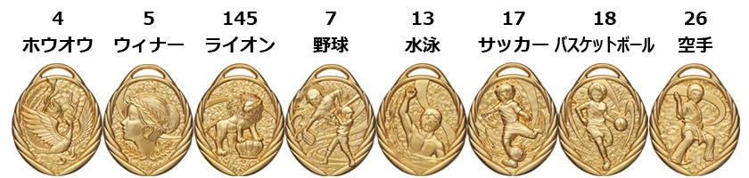 キッズメダル ホウオウ・ウィナー・ライオン・野球・水泳・サッカー・バスケットボール・空手