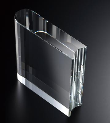 ブック型ガラス製盾